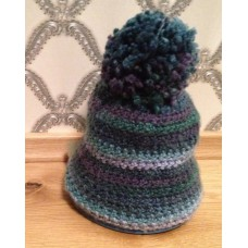 Crochet pompom hat no. 54-56